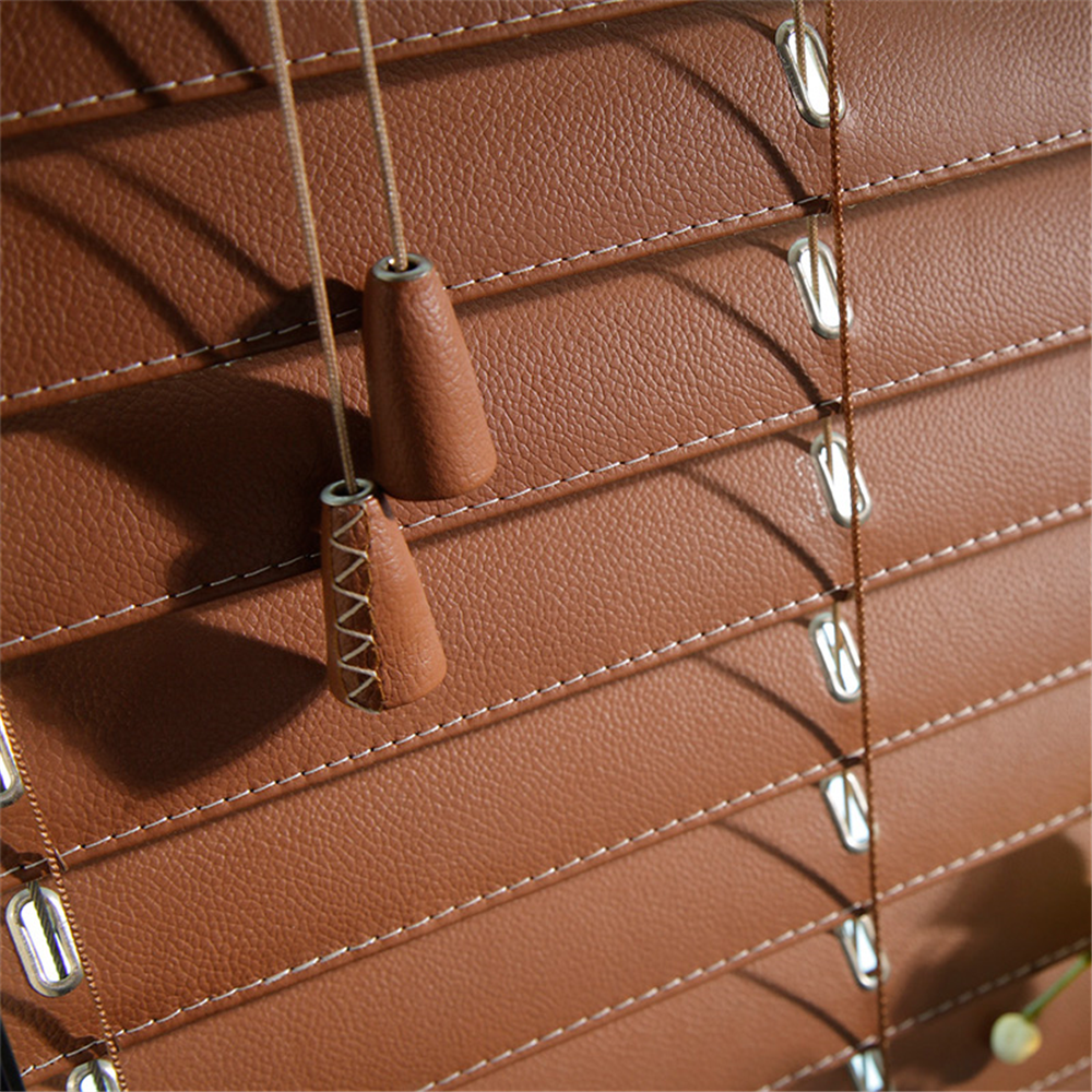 Leather Jalousie Curtain